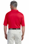 Devon & Jones DG200 Red Pima Tech Jet Pique Blend Short Sleeve Polo Shirt Back