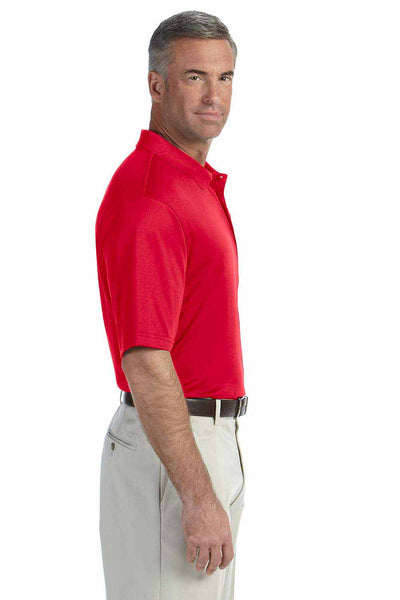 Devon & Jones DG200 Red Pima Tech Jet Pique Blend Short Sleeve Polo Shirt Side