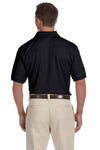 Devon & Jones DG385 Black Dri Fast Advantage Polyester Mesh Short Sleeve Polo Shirt Back