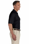 Devon & Jones DG385 Black Dri Fast Advantage Polyester Mesh Short Sleeve Polo Shirt Side
