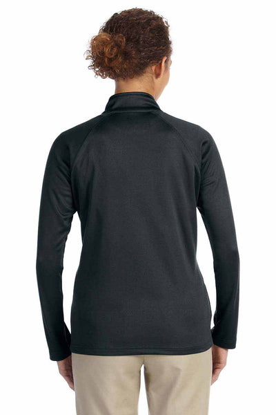 Devon & Jones DG420W Black Compass Stretch Tech Polyester Sweatshirt Back