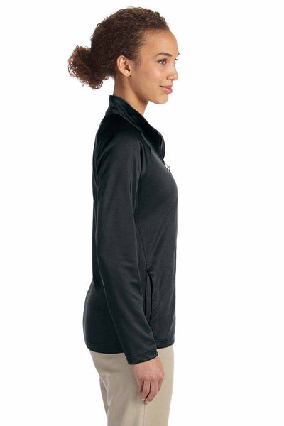 Devon & Jones DG420W Black Compass Stretch Tech Polyester Sweatshirt Side