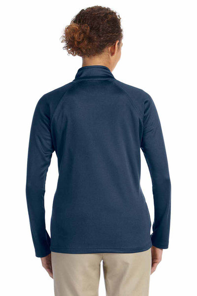 Devon & Jones DG420W Navy Blue Compass Stretch Tech Polyester Sweatshirt Back