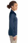 Devon & Jones DG420W Navy Blue Compass Stretch Tech Polyester Sweatshirt Side