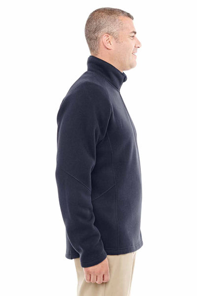 Devon & Jones DG792 Navy Blue Bristol Sweater Fleece Sweatshirt Side