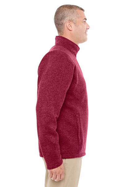 Devon & Jones DG793 Red Bristol Sweater Fleece Sweatshirt Side