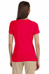 Devon & Jones DP182W Red Perfect Fit Triblend Short Sleeve Crewneck T-Shirt Back