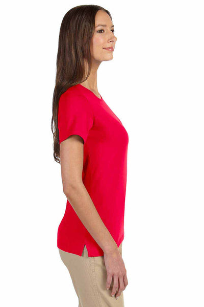 Devon & Jones DP182W Red Perfect Fit Triblend Short Sleeve Crewneck T-Shirt Side
