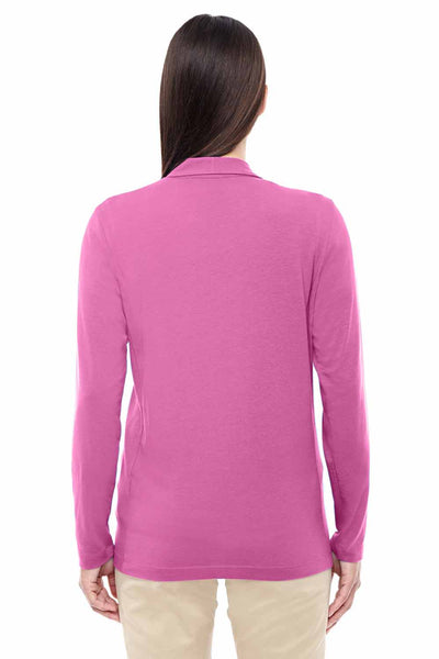 Devon & Jones DP462W Charity Pink Perfect Fit Triblend Shawl Collar Long Sleeve Cardigan Sweater Back