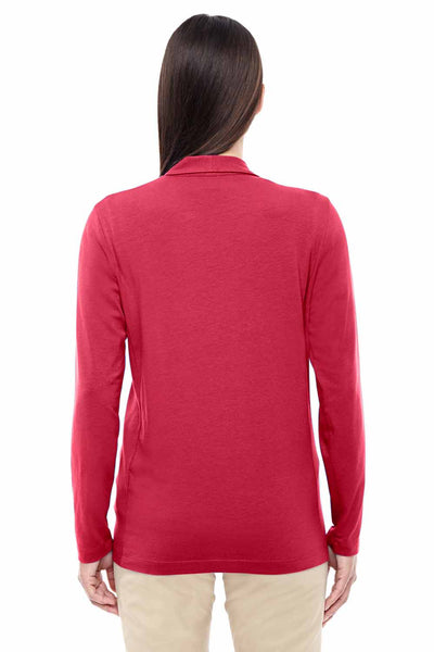 Devon & Jones DP462W Red Perfect Fit Triblend Shawl Collar Long Sleeve Cardigan Sweater Back