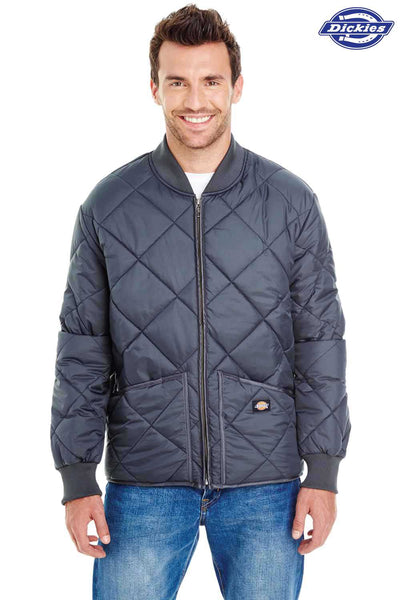 Dickies 61242 Navy Blue Diamond Quilt Jacket Front