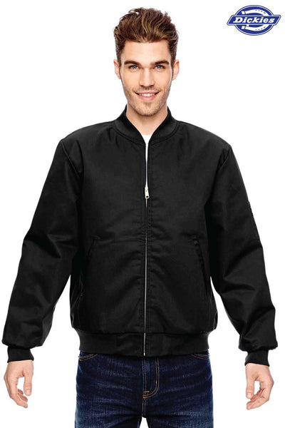 Dickies JTC2 Black Industrial Blend Insulated Work Jacket Front