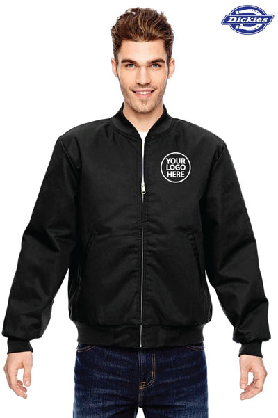 Dickies JTC2 Black Industrial Blend Insulated Work Jacket Logo