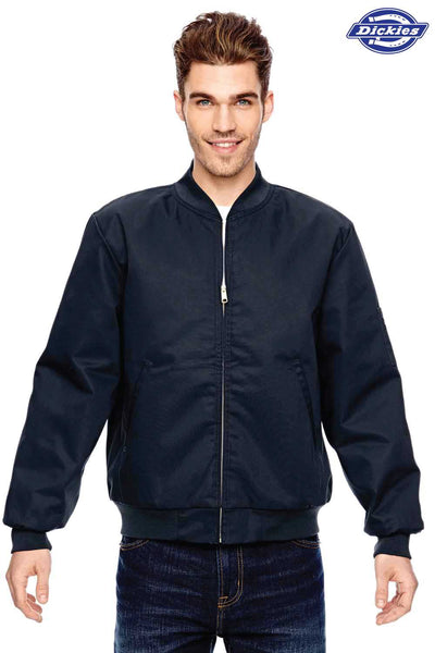 Dickies JTC2 Navy Blue Industrial Blend Insulated Work Jacket Front