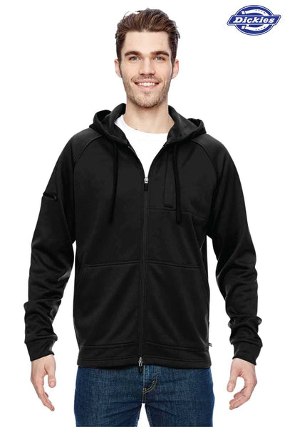 Dickies LJ536 Black Tactical Fleece Hooded Sweatshirt Hoodie Front