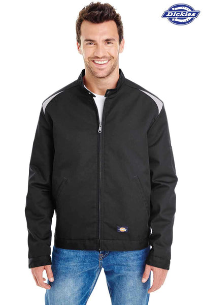 Dickies LJ605 Black Performance Blend Team Jacket Front