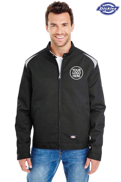 Dickies LJ605 Black Performance Blend Team Jacket Logo