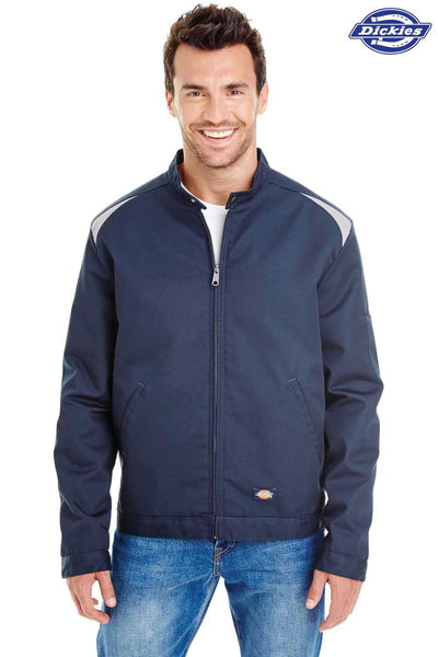 Dickies LJ605 Navy Blue Performance Blend Team Jacket Front