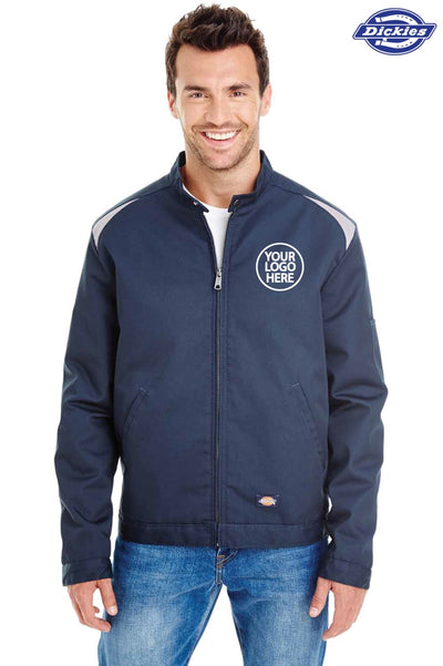 Dickies LJ605 Navy Blue Performance Blend Team Jacket Logo