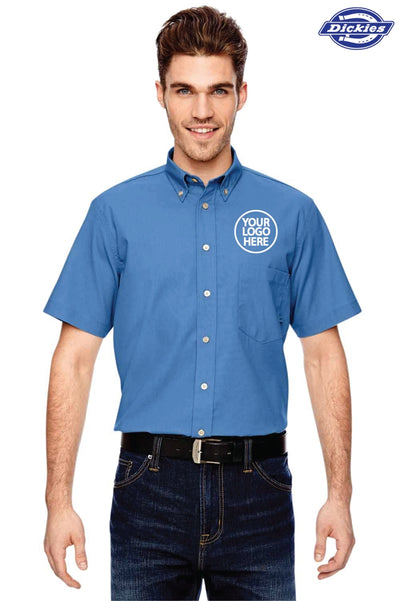 Dickies LS505 Light Blue  Logo