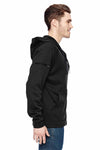 Dickies LJ536 Black Tactical Fleece Hooded Sweatshirt Hoodie Side