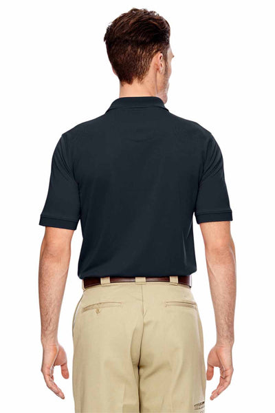 Dickies LS404 Navy Blue Industrial Performance Polyester Short Sleeve Polo Shirt Back