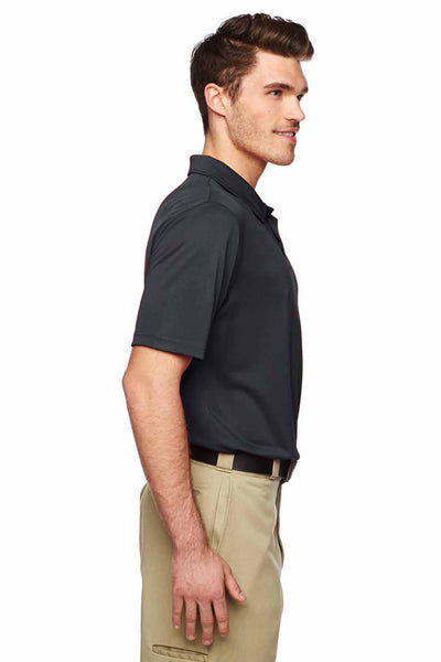 Dickies LS425 Black MaxCool Performance Polyester Short Sleeve Polo Shirt Side