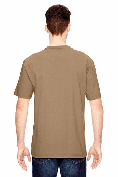 Dickies WS451 Sand Brown Heavyweight Cotton Henley Short Sleeve T-Shirt Back