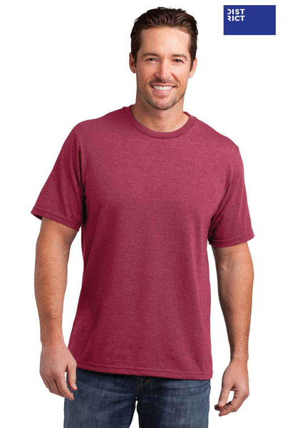 District DM108 Heather Red Perfect Blend Short Sleeve Crewneck T-Shirt Front