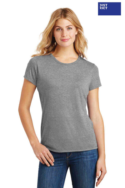 District DM130L Grey Frost Perfect Triblend Short Sleeve Crewneck T-Shirt Front
