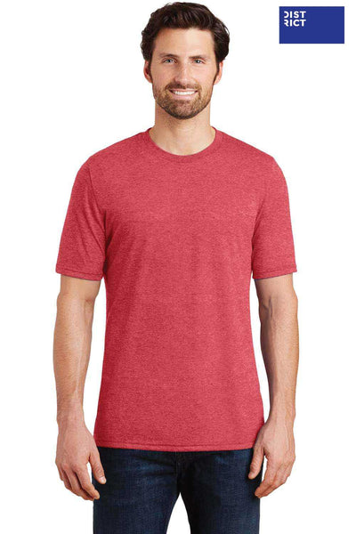 District DM130 Red Frost Perfect Triblend Short Sleeve Crewneck T-Shirt Front