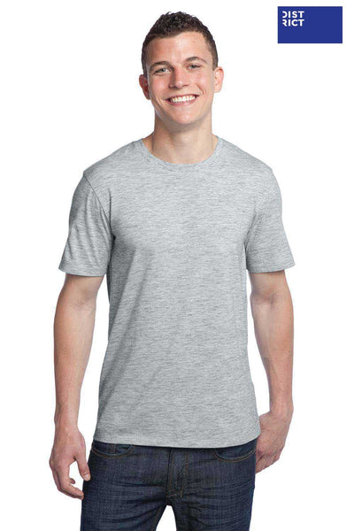 District DT1000 Heather Grey Extreme Blend Heather Short Sleeve Crewneck T-Shirt Front