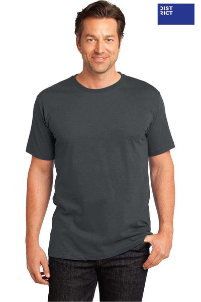 District DT104 Charcoal Grey Perfect Weight Cotton Short Sleeve Crewneck T-Shirt Front