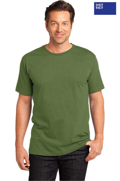 District DT104 Fatigue Green Perfect Weight Cotton Short Sleeve Crewneck T-Shirt Front