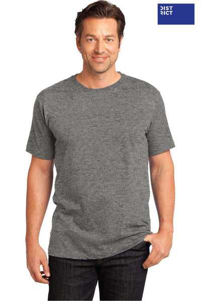District DT104 Heather Steel Grey Perfect Weight Cotton Short Sleeve Crewneck T-Shirt Front