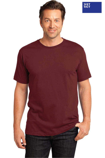 District DT104 Sangria Red Perfect Weight Cotton Short Sleeve Crewneck T-Shirt Front