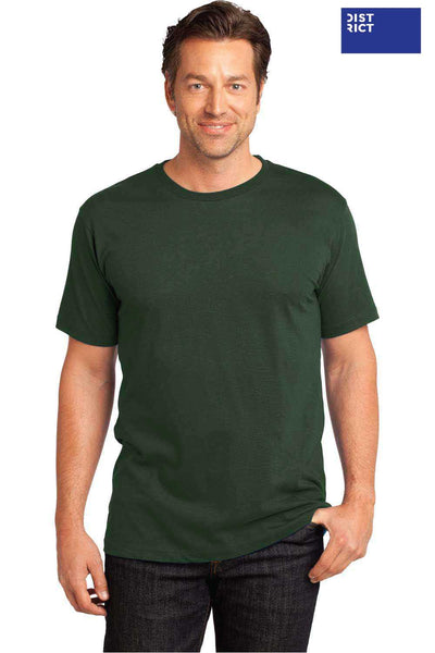 District DT104 Thyme Green Perfect Weight Cotton Short Sleeve Crewneck T-Shirt Front
