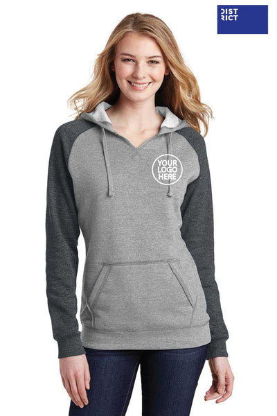 District DT296 Heather Grey/Grey  Embroidery