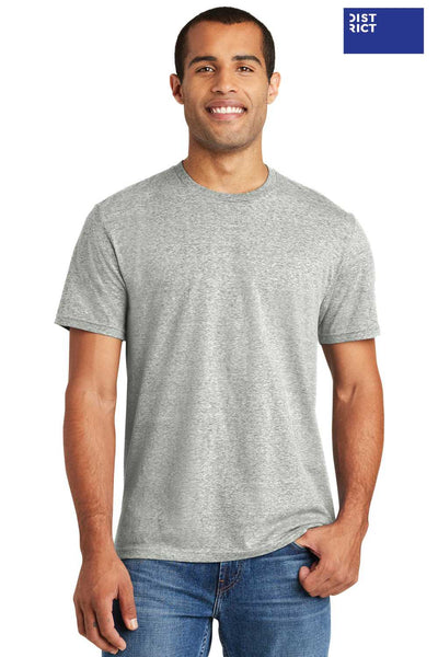 District DT365A Grey Cosmic Blend Short Sleeve Crewneck T-Shirt Front