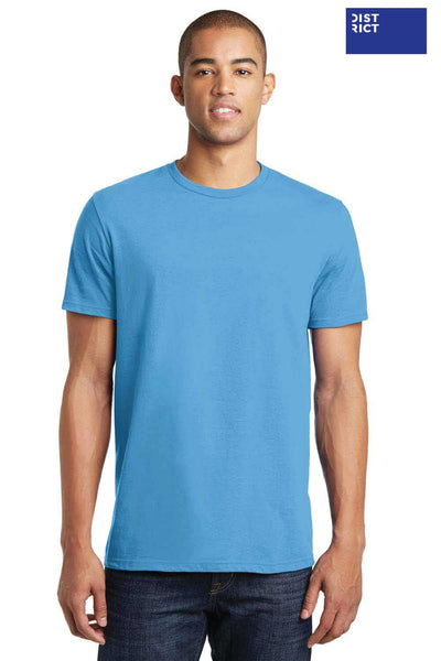 District DT5000 Aqua Blue The Concert Cotton Short Sleeve Crewneck T-Shirt Front