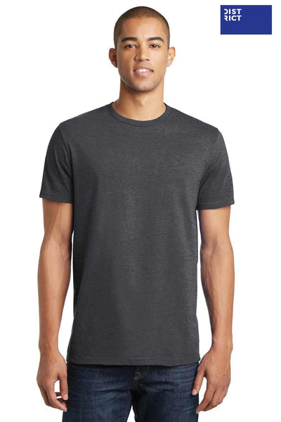 District DT5000 Heather Charcoal Grey The Concert Cotton Short Sleeve Crewneck T-Shirt Front