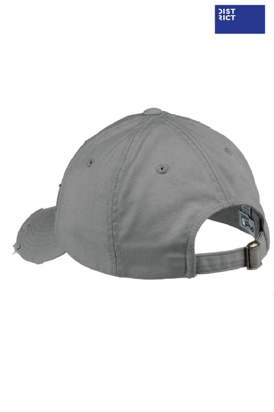 District DT600 Nickel Grey Distressed Hat Back