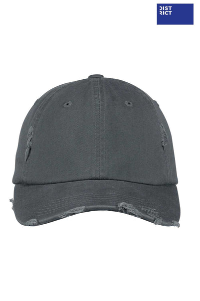 District DT600 Nickel Grey Distressed Hat Front