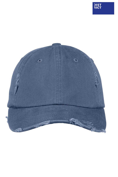 District DT600 Scotland Blue Distressed Hat Front