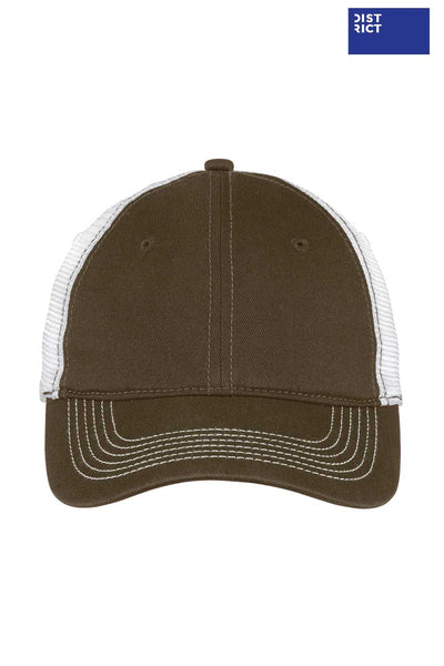 District DT607 Army Green Mesh Back Hat Front