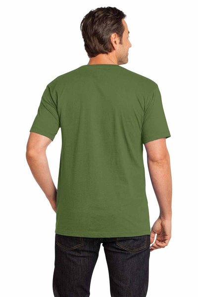 District DT104 Fatigue Green Perfect Weight Cotton Short Sleeve Crewneck T-Shirt Back