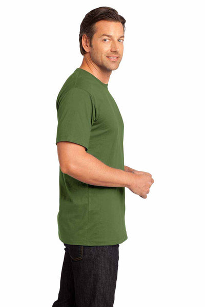 District DT104 Fatigue Green Perfect Weight Cotton Short Sleeve Crewneck T-Shirt Side