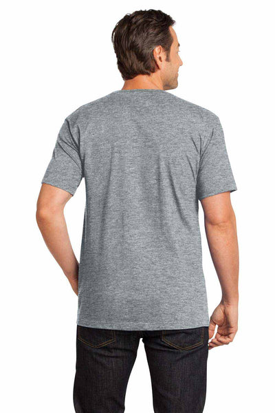 District DT104 Heather Steel Grey Perfect Weight Cotton Short Sleeve Crewneck T-Shirt Back