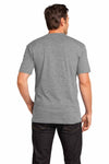 District DT1170 Heather Nickel Grey Perfect Weight Cotton Short Sleeve V-Neck T-Shirt Back