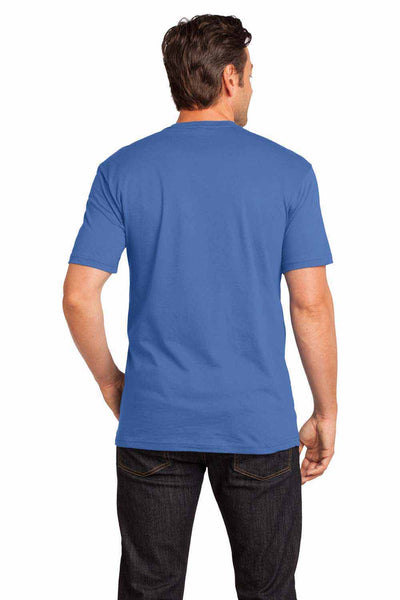 District DT1170 Maritime Blue Perfect Weight Cotton Short Sleeve V-Neck T-Shirt Back